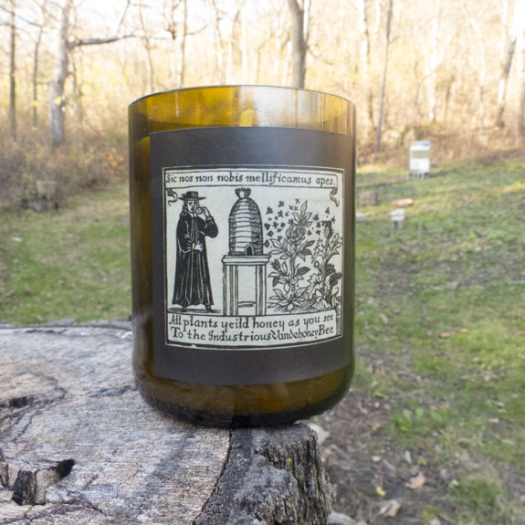 Hand blended Beeswax Candle